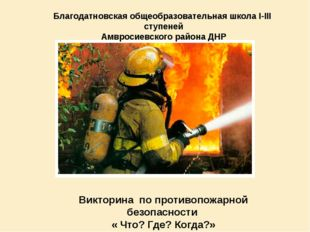 Благодатновская общеобразовательная школа І-ІІІ ступеней Амвросиевского район