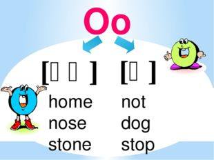 Oo [ɒ] [əʊ] not dog stop home nose stone