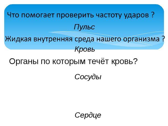 Орган, который приводит кровь в движение? Органы по которым течёт кровь? С...