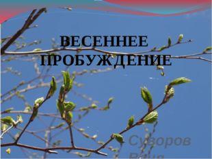 Суворов Ваня ученик 2 «г» класса ВЕСЕННЕЕ ПРОБУЖДЕНИЕ