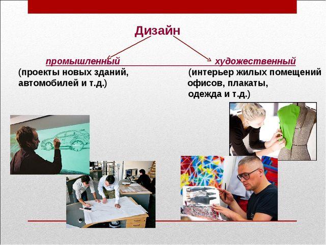 Дизайн промышленный художественный (проекты новых зданий, (интерьер жилых пом...