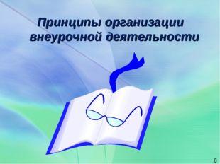 Принципы организации внеурочной деятельности *