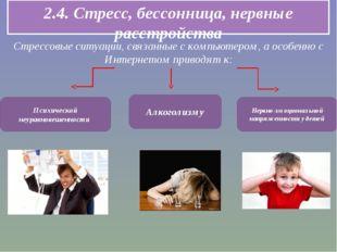 2.4. Стресс, бессонница, нервные расстройства Стрессовые ситуации, связанные