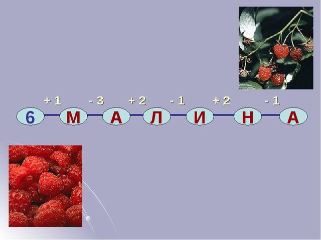 + 1 - 3 + 2 - 1 + 2 - 1 6 М А Л И Н А