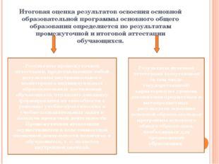 Итоговая оценка результатов освоения основной образовательной программы основ
