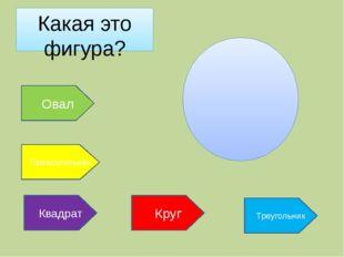 Какая это фигура? Овал Треугольник Круг Прямоугольник Квадрат