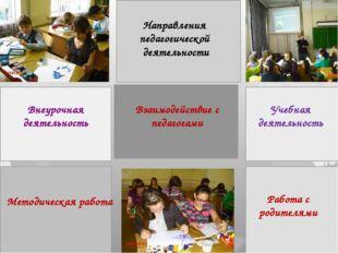 Внеурочная деятельность Учебная деятельность Направления педагогической деяте