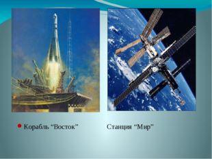 """Корабль """"Восток""""Станция """"Мир"""""""