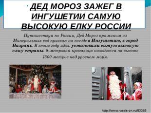 ДЕД МОРОЗ ЗАЖЕГ В ИНГУШЕТИИ САМУЮ ВЫСОКУЮ ЕЛКУ РОССИИ Путешествуя по России,