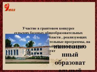 Участие в грантовом конкурсе сельских базовых общеобразовательных учреждений