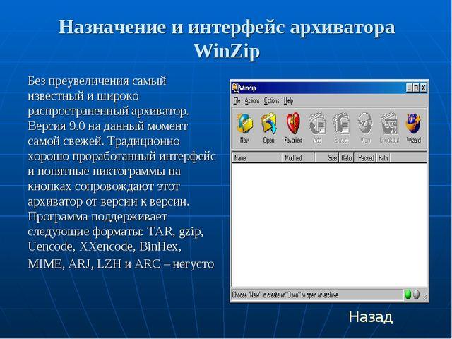 Назначение и интерфейс архиватора WinZip Без преувеличения самый известный и...