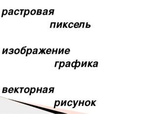 растровая  пиксель изображение  графика векторная  рисунок
