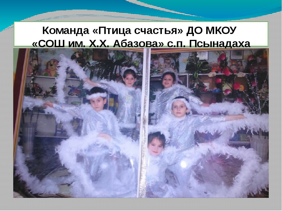 Команда «Птица счастья» ДО МКОУ «СОШ им. Х.Х. Абазова» с.п. Псынадаха