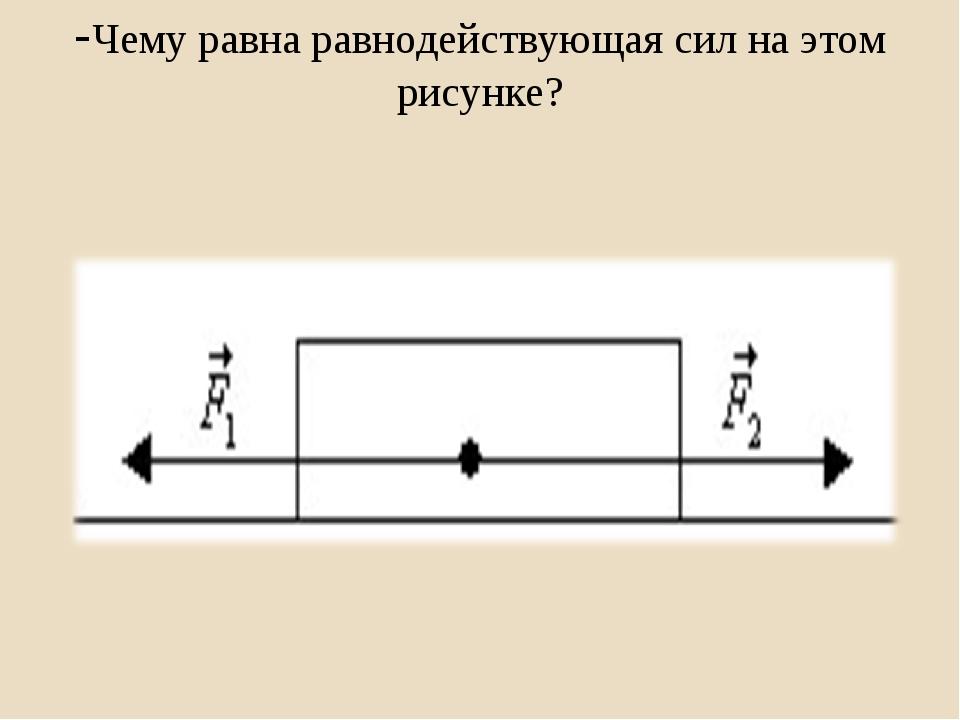 -Чему равна равнодействующая сил на этом рисунке?