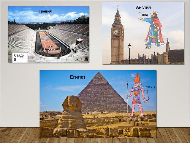 ярд фут Англия локоть Египет Стадий Греция