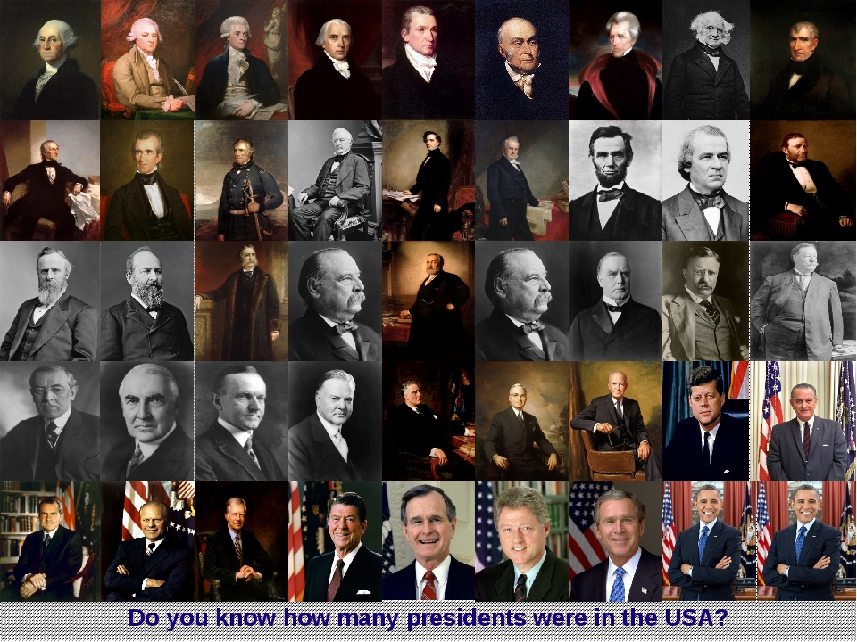 Do you know how many presidents were in the USA?
