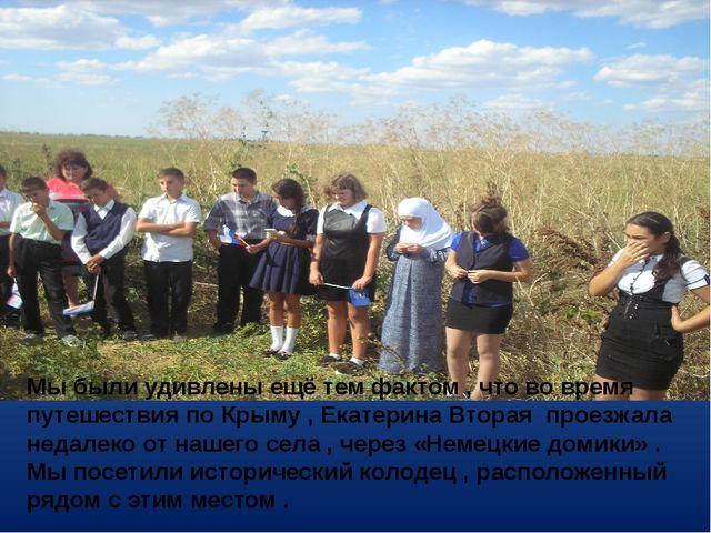 Мы были удивлены ещё тем фактом , что во время путешествия по Крыму , Екатери...