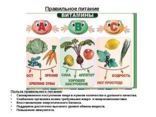 Польза правильного питания: Своевременное поступление пищи в нужном количеств