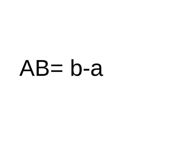 AB= b-a