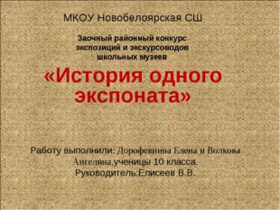 Работу выполнили: Дорофевнина Елена и Волкова Ангелина,ученицы 10 класса. Рук