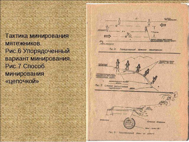 Тактика минирования мятежников. Рис.6 Упорядоченный вариант минирования. Рис....