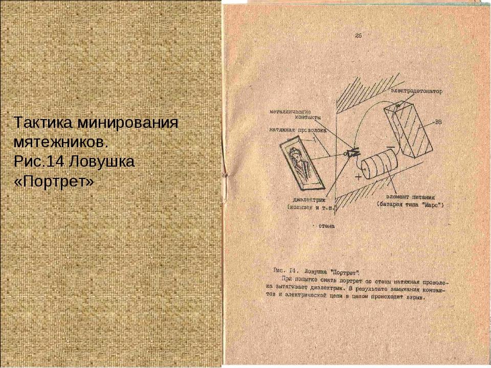 Тактика минирования мятежников. Рис.14 Ловушка «Портрет»