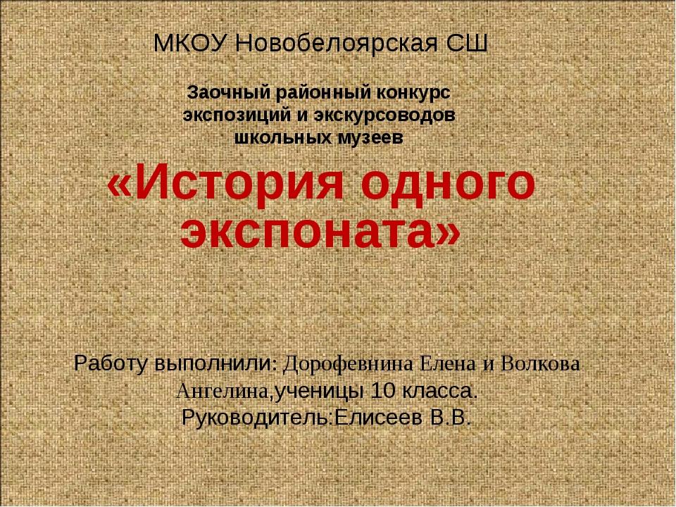 Работу выполнили: Дорофевнина Елена и Волкова Ангелина,ученицы 10 класса. Рук...