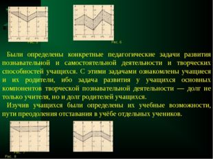 Рис. 5 Рис. 6 Были определены конкретные педагогические задачи развития позн