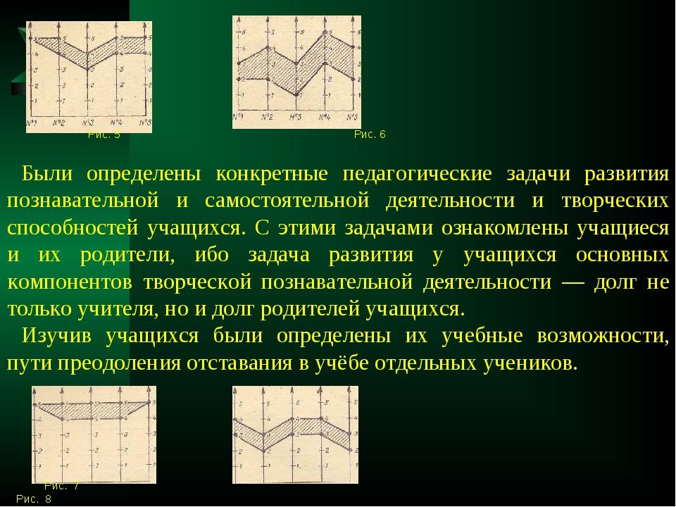 Рис. 5 Рис. 6 Были определены конкретные педагогические задачи развития позн...