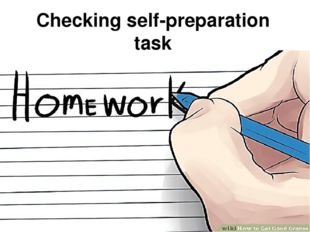 Checking self-preparation task