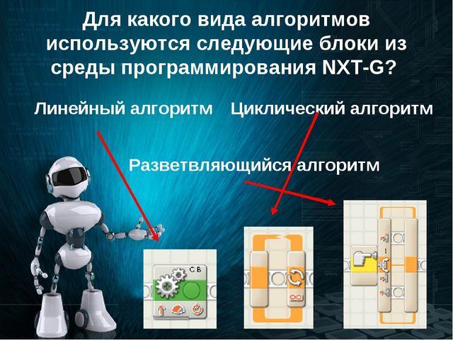 Для какого вида алгоритмов используются следующие блоки из среды программиров...