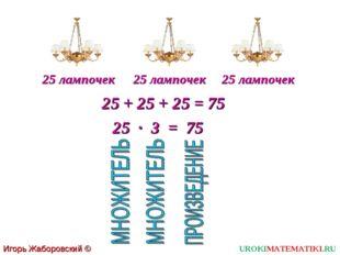 Игорь Жаборовский © 2011 UROKIMATEMATIKI.RU 25 лампочек 25 лампочек 25 лампоч