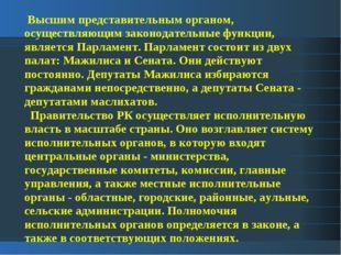 Высшим представительным органом, осуществляющим законодательные функции, явл