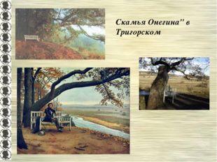 """Скамья Онегина"""" в Тригорском"""