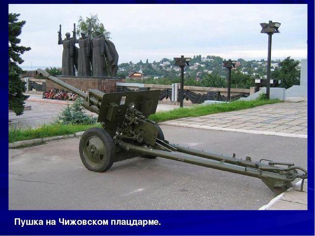Пушка на Чижовском плацдарме.