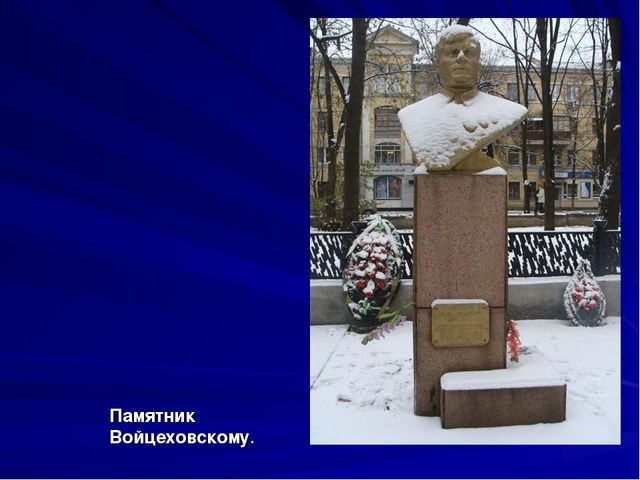Памятник Войцеховскому.