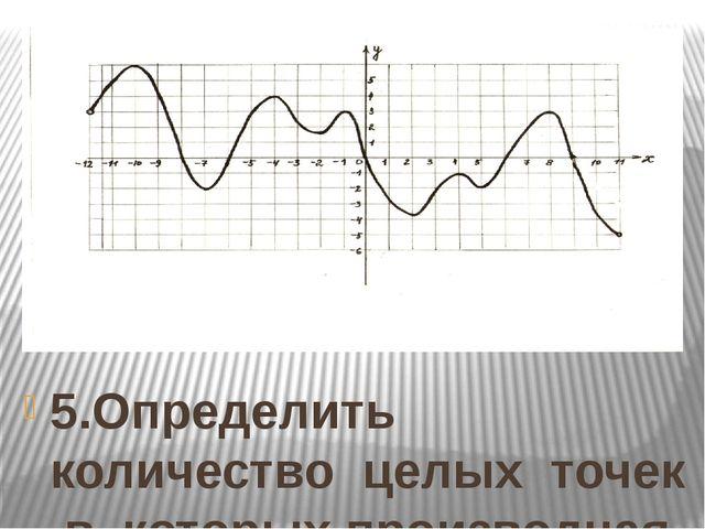 5.Определить количество целых точек в которых производная функции y = f(Х) от...