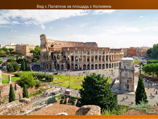 Вид с Палатина на площадь с Колизеем.