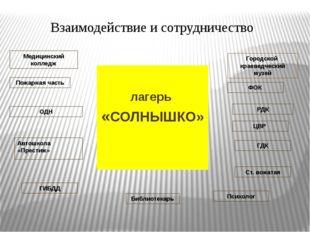 лагерь «СОЛНЫШКО» Взаимодействие и сотрудничество Городской краеведческий му