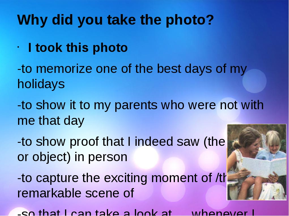 Why did you take the photo? I took this photo -to memorize one of the best da...