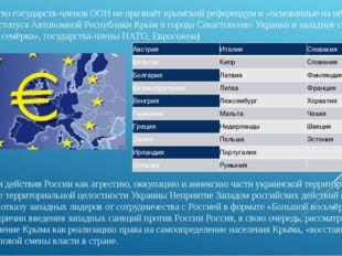 Большинствогосударств-членов ООНне признаёткрымский референдум и «основан
