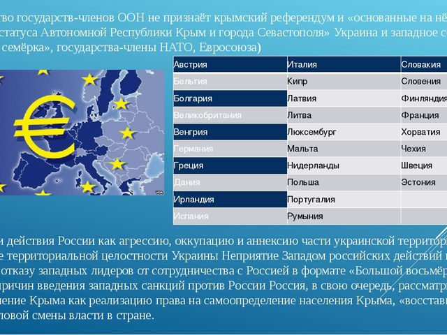 Большинствогосударств-членов ООНне признаёткрымский референдум и «основан...