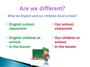 English school, classroom English children at school, in the lesson Our schoo