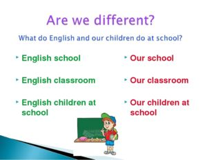 English school English classroom English children at school Our school Our cl