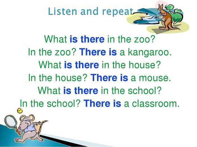 What is there in the zoo? In the zoo? There is a kangaroo. What is there in t...