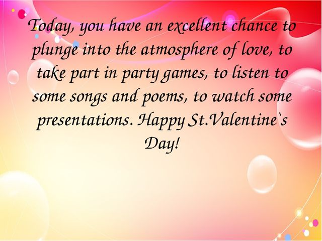 Today, you have an excellent chance to plunge into the atmosphere of love, to...