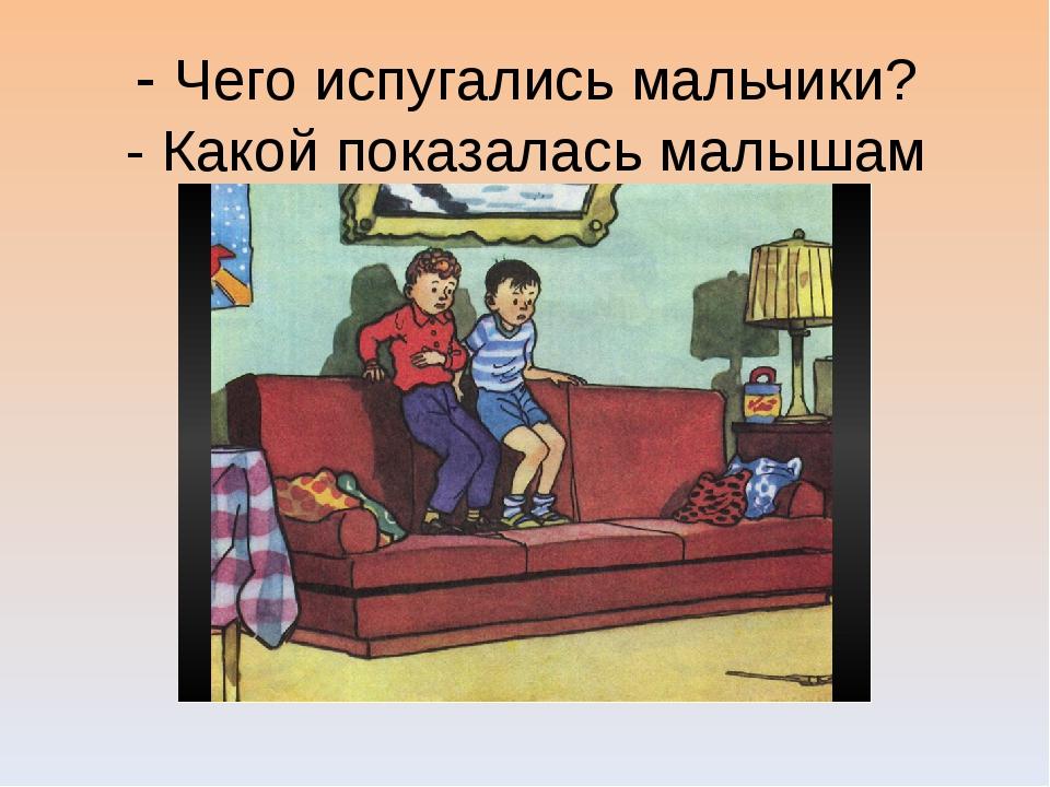 - Чего испугались мальчики? - Какой показалась малышам шляпа?