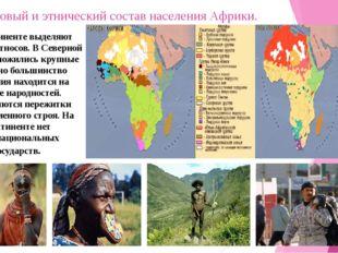 Расовый и этнический состав населения Африки. На континенте выделяют более 40