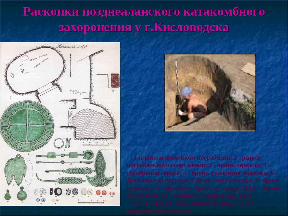 Раскопки позднеаланского катакомбного захоронения у г.Кисловодска 1-план ката...