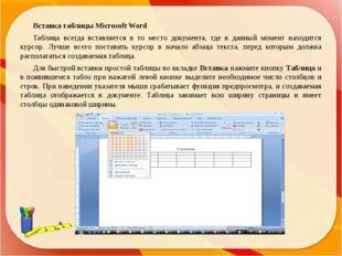 Преобразование текста в таблицу Для преобразования текста в таблицу необходим